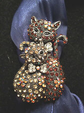 NEW Kitty Cats Expandable Band Bling Ring/Scarf Ornament