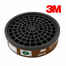 3M 3301 Organic Vapor Cartridge Filter Box For 3M 3200 Mask Activated Carbon New