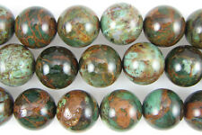 20mm green opal round beads 2pcs