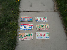 Lot of 6 - SD South Dakota License Plates State License Different Years