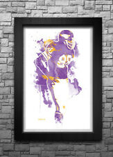 ALAN PAGE watercolor art print/poster MINNESOTA VIKINGS FREE S&H FOOTBALL NFL