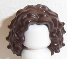 Lego Hair Female Long Tousled with Center Part x 1 Dark Brown for Minifigure