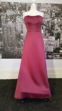 Kelsey Rose Dress (Berry-Size 10) Bridesmaid, Prom, Ball,Coctail,  Tag says £185