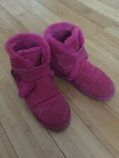 Michael Kors Pink Furry Winter Ankle Boots Size 7