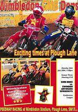 Speedway Programme WIMBLEDON DONS v SWINDON SPROCKETS July 2004
