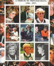 A TRIBUTE TO PRINCESS DIANA 1961-1997 TADJIKISTAN MNH STAMP SHEETLET