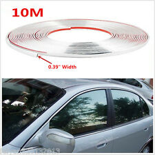 10m Silver Chrome 3M Adhesive Car Door Edge Moulding Trim Guard Strip Protector