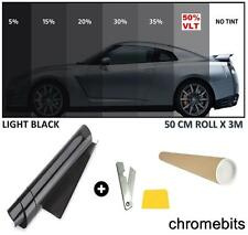 TINTING WINDOW TINT FILM KIT LIGHT BLACK 50% 3M x 50CM COME IN A TUBE