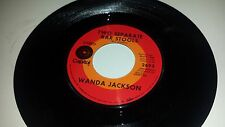 WANDA JACKSON Two Separate Bar Stools / Two Wrongs Don't CAPITOL 2693 COUNTRY 45