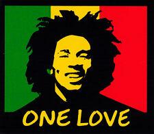 ONE LOVE Bob Marley - Reggae Rasta Bumper Sticker / Decal