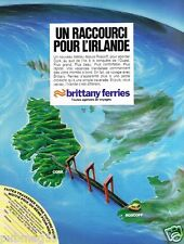 Publicité advertising 1982 Brittany Ferries