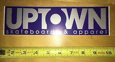 Uptown Skateboard Sticker Vintage Philly Zoo York Chris Cole Zero Nos 90s