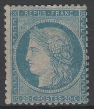 """FRANCE STAMP TIMBRE N° 37 """" CERES 20c BLEU SIEGE DE PARIS 1870 """" NEUF x TB  K942"""