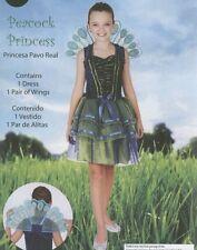 BRAND NEW HALLOWEEN GIRLS PEACOCK PRINCESS COSTUME WINGS CHILD SIZE 8-10 MEDIUM