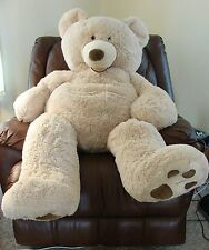 "53"" GIANT TEDDY BEAR PLUSH HUGFUN INTERNATIONAL HUGE BIG  Gift"