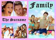 Personalised Family Collage Photos & Surname Theme A3 Photo Print Poster