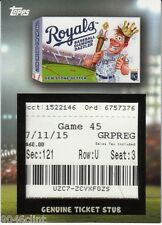 2016 WACKY PACKAGES MAJOR LEAGUE BASEBALL TICKET RELIC STUB ROYALS TR-KCR GAME