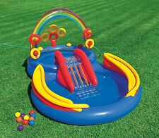 Intex Rainbow Ring Play Center Inflatable Kiddie Spray Wading Pool
