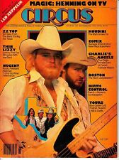 Circus Magazine #146 December 30 1976 ZZ Top Thin Lizzy Ted Nugent Boston