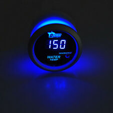 "2"" 52mm Black Car Auto Digital Blue LED Water Temp Temperature LED Gauge Kit"