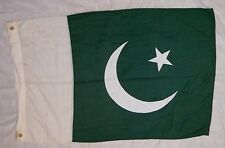 "FLAG ""PAKISTAN"" VALLEY FORGE FLAG CO. 50""x31"" POLY/COTTON, SEWN DESIGN, GOOD!"