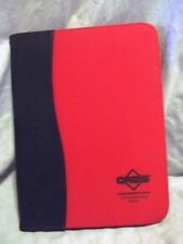 Oasis Slim Red and Black Zipper Business Organizer