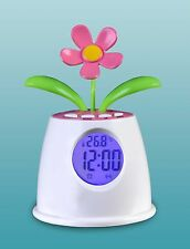 Solar Power Table Clock Eco-Power Talking Flower Alarm Clock