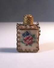 Vintage Miniature Perfume Bottle with Glass Dauber Very Tiny! Antique?