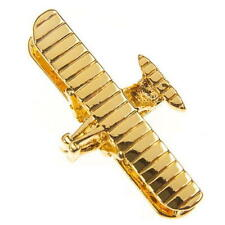 Wright Flyer Tie Pin - Gold Plated Tiepin Badge