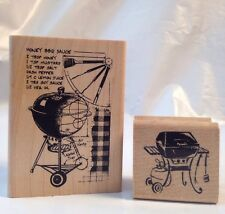 Inkadinkado Honey BBQ Sauce Recipe Grill Cook-out Barbecue father Rubber Stamps