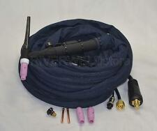 WP-26V-25R 25' 200Amp Air-Cooled TIG Welding Torch Gas-Valve Control Head Body
