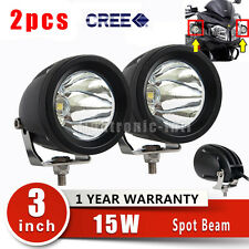 2pcs CREE 15W 3'' LED Driving Work Fog Spot Light ATV Motorcycle Car Offroad 4WD