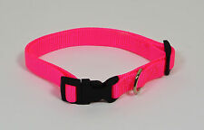 """NEW 5/8"""" Wide Nylon Dog Collar Pink Size Small 11""""-16"""""""