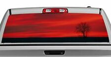 Truck Rear Window Decal Graphic [Nature / Lone Tree] 20x65in DC19001