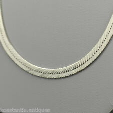 Vintage 600 mm sterling silver neck chain snake  necklace Italy 925 great gift