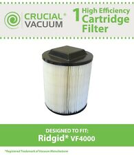 Ridgid VF4000 Washable Wet/Dry Vac Filter Fits All Ridgid Brand Vacs # 72947
