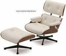 EAMES LOUNGE CHAIR E OTTOMAN LIMITED EDITION DOLL HOUSE miniatura scala 1.12