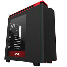 NZXT h440 Nero Rosso 2015 ATX Gaming USB Edition 3 PC CASE-SIDE Window & Fan