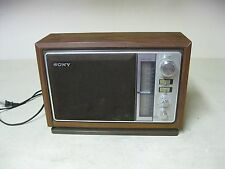 COLLECTIBLE SONY AM FM RADIO MODEL ICF-9740W ELECTRIC TABLE TOP RADIO WORKS