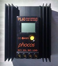 PHOCOS - PL 40 Solar Charge Controller, 12 - 48V, 40A Charge, 7A Load