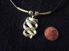 Kautschuk-Halsband 2mm Karabiner Modeschmuck Kette Anhänger gold-farben