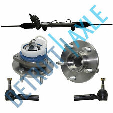 Complete Steering Rack and Pinion + 2 Outer Tie Rod + 2 Front Wheel Hub Bearing
