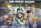 "DISNEY/PIXAR ""TOY STORY 3 - THE GREAT ESCAPE"" POSTER -Woody, Buzz & Cast Running"