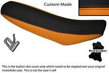 Naranja Y Negro Custom encaja Ktm Exc 125 250 300 400 Doble Cuero Funda De Asiento