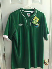 New York Cosmos Away Soccer Jersey Green Umbro Vintage 70s/80s