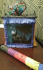 Hogwarts Harry potter Pinata filled with Sweets Party & Stick Can Personalise