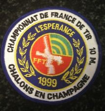 vintage 1999 FRANCE PISTOL SHOOTING 10 METERS CHAMPION PATCH gun/rifle VERY RARE