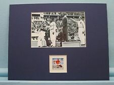 1936 Berlin Olympics  - Jesse Owens wins the Gold  honored by his own stamp