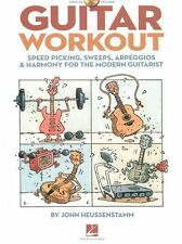 Guitar Workout Speed Picking Sweeps Harmony Learn Play Guitar Music Book &CD