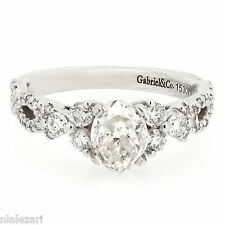 1.57ct Oval Cut Engagement Ring H Color SI1 Clarity  Gabriel & Co Design size 6
